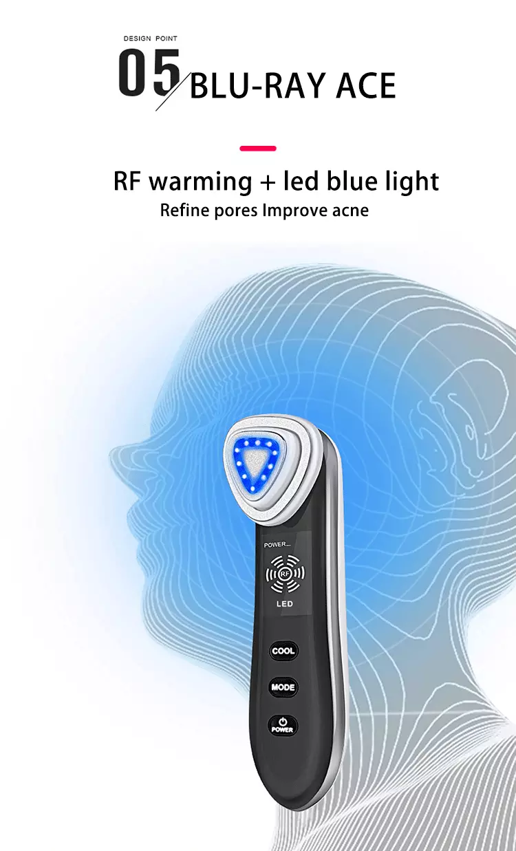 Multi-function led light therapy cold therapy  shrink pores face lifting  homuse personal care beauty equipment