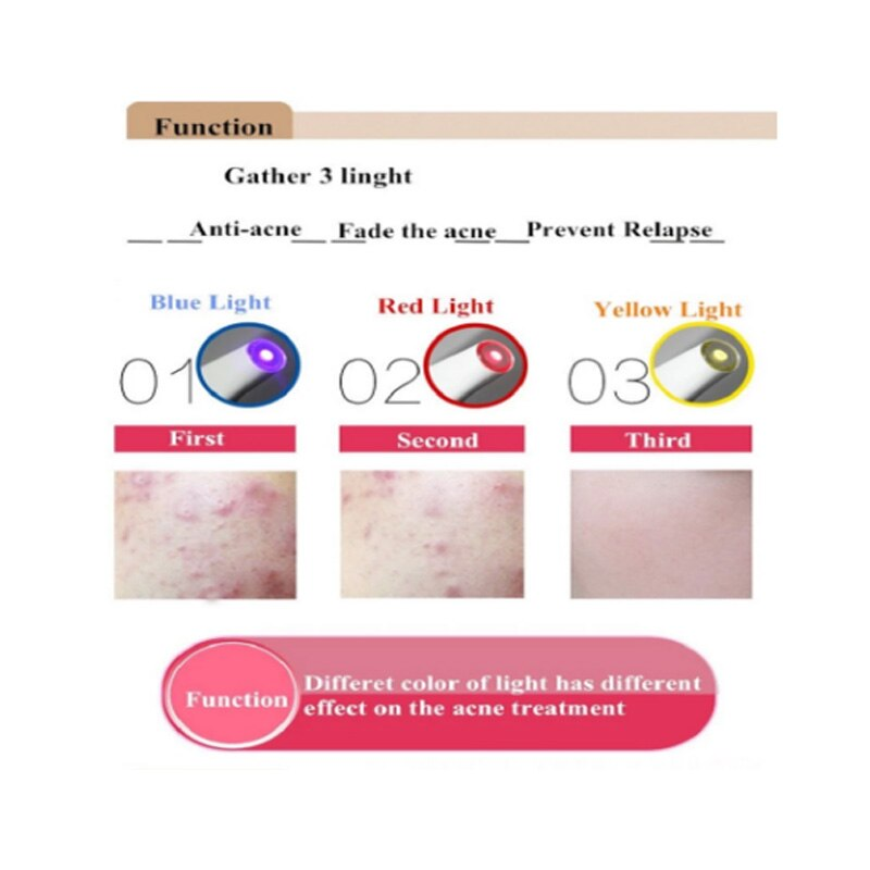 OEM Personal care Cystic Acne Scar Pimple Blemish Pockmark Zit Removal Warming Treatment Machine Pimple Removal Pen