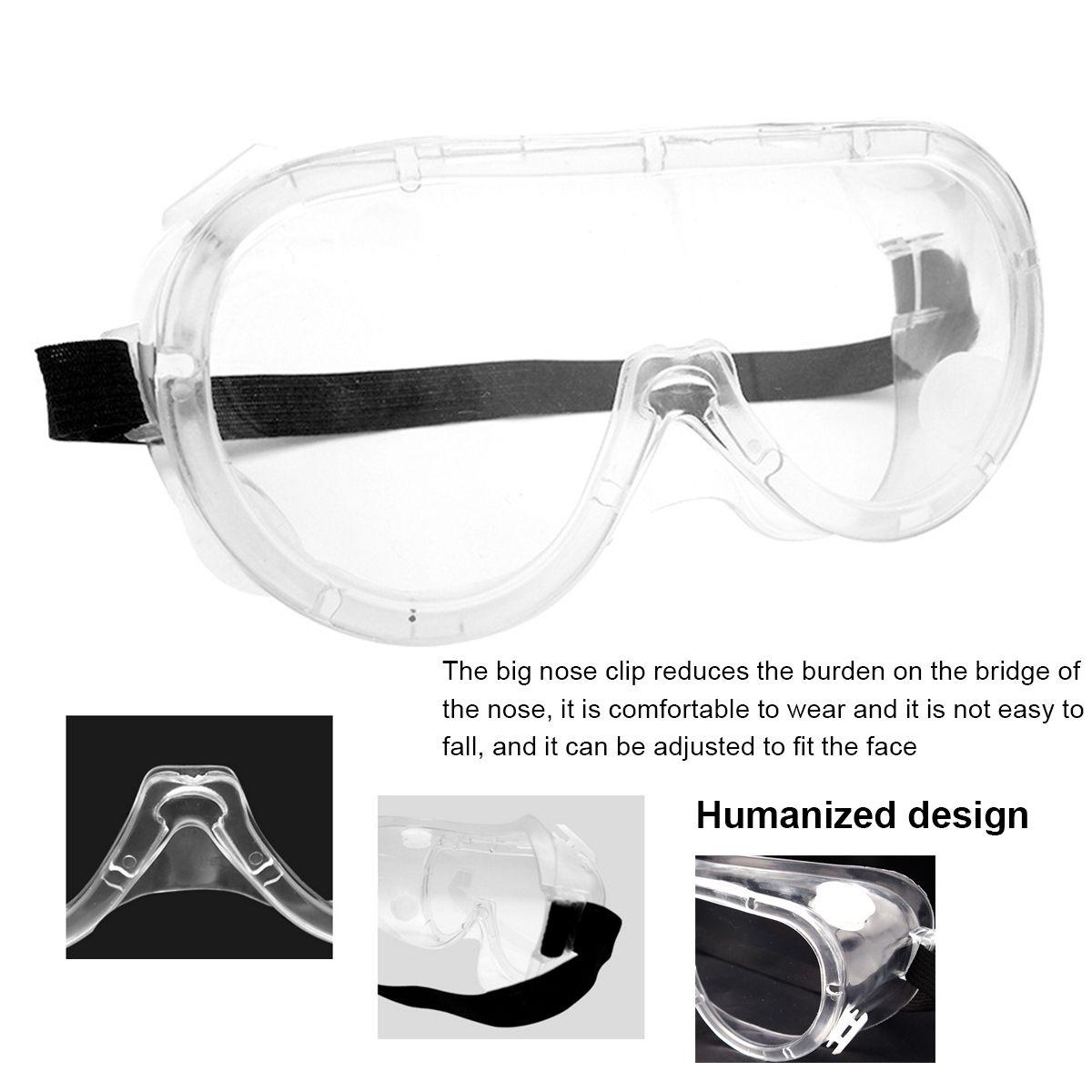 Medical Safety Protective Goggles Medical Glasses Transparent Lens Goggles Prevent Infection Eye Mask Anti-Fog Splash Goggles