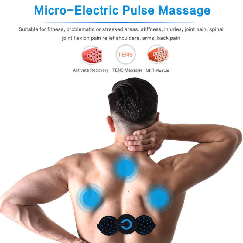 Neck Massage Sticker Portable Women Men Mini Electric Cervical Massage Stimulator Pain Relief Body Relaxation Health Care Device