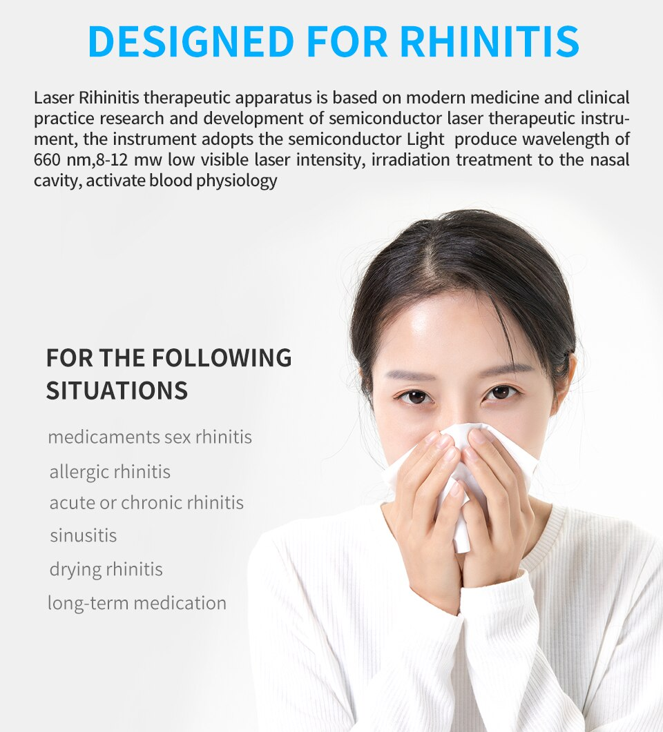 Nose Care Device Proxy BioNase Nose Rhinitis Sinusitis Cure Therapy Massage Hay Fever Low Frequency Pulse Laser Nose Health Care