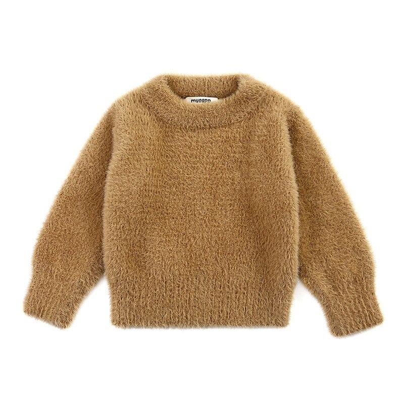 New Style Winter Wear Girls' Sweaters  Imitation Mink Jacket Sweater Baby Warm Coat Kids Sweaters Children Clothing 1-3 Year Old