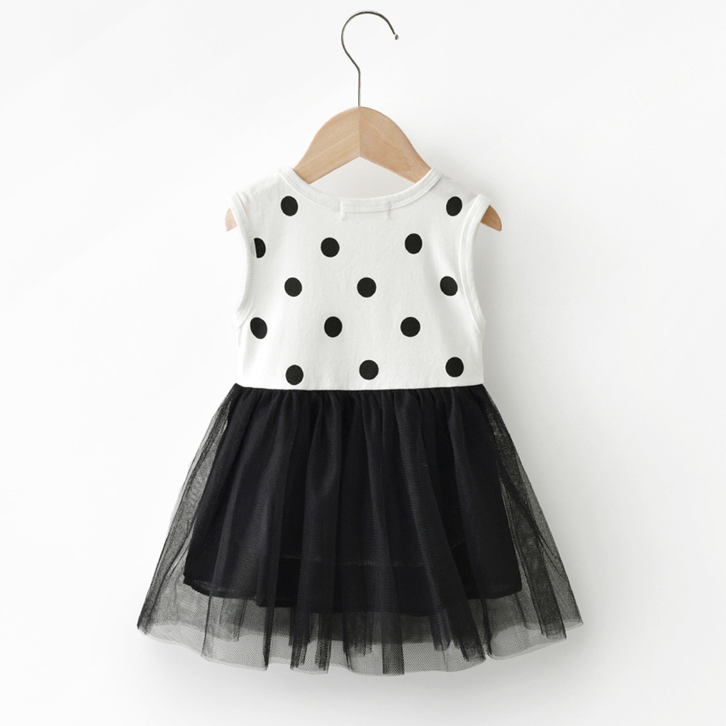 Girls' Dresses Toddler Summer Baby Dot Tulle Fashion Cute Princess Dress Outfits Clothes  Clothing Toddler Dresses