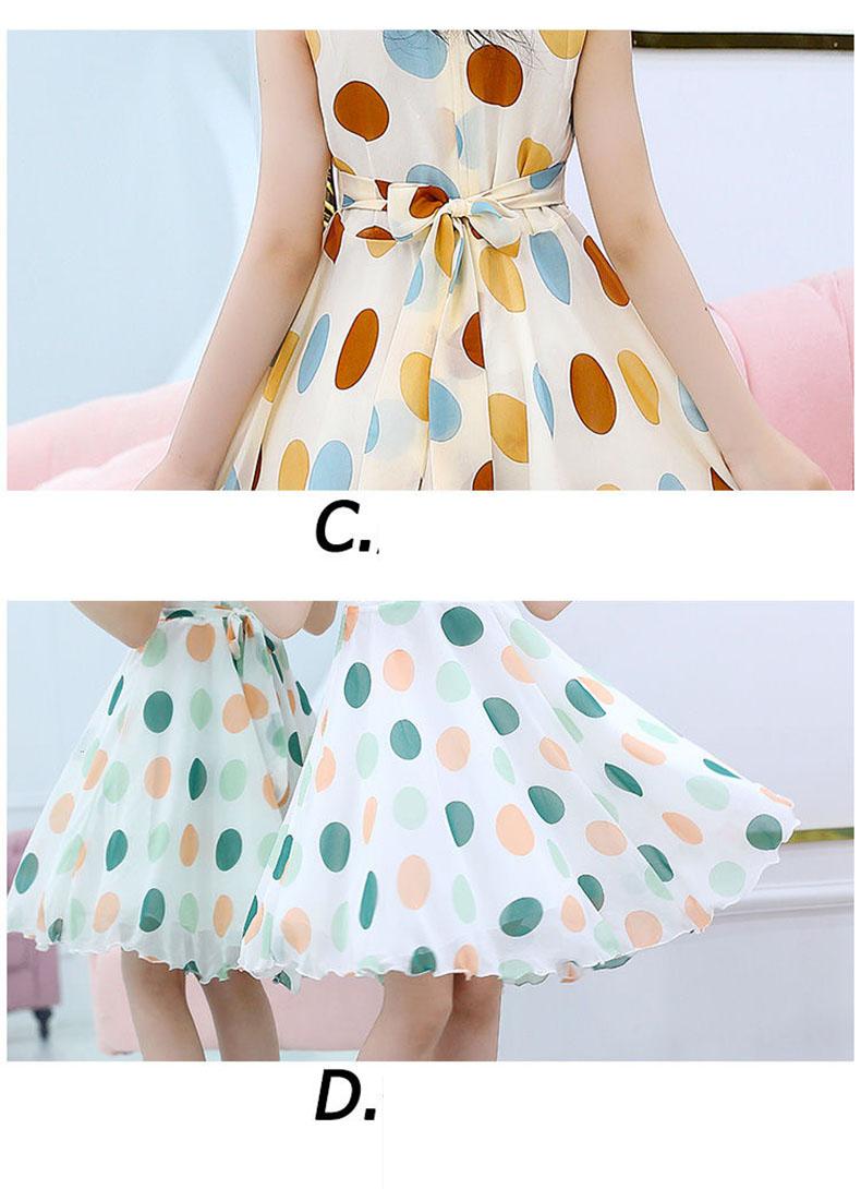 Girls' Clothing Dress 2020 Summer Girls Polka Dot Dress Baby Sweet Lovely Princess Dress Girls Elegant Everyday Leisure Dresses