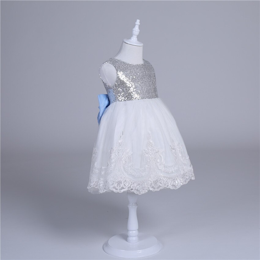 2019 Summer New baby girls flower dress Children's Casual Sequin 1 2 3 4 5yrs Wear Kids embroidery Dresses for girls's Clothing