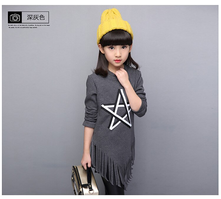Baby Girls' Clothing, Spring And Autumn Blouse, T-Shirts, Tassels, Casual Shirts Baby Girl Clothes Free Shipping 5-12 Age