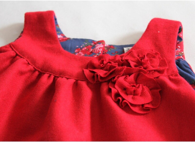6T High Quality Red 3D Flower Girl Beauty Pageant Dresses Kid Fashion Girls' Dresses Toddler Clothing for the Children Baby Wear