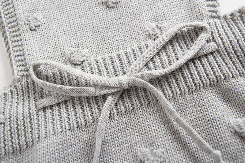 INS Summer Knitted Rompers Newborn In Baby Girls' Rompers&Jumpsuit Vest Top Tee Kids Boys Gray Rompers 0-3 Years Girl Clothing