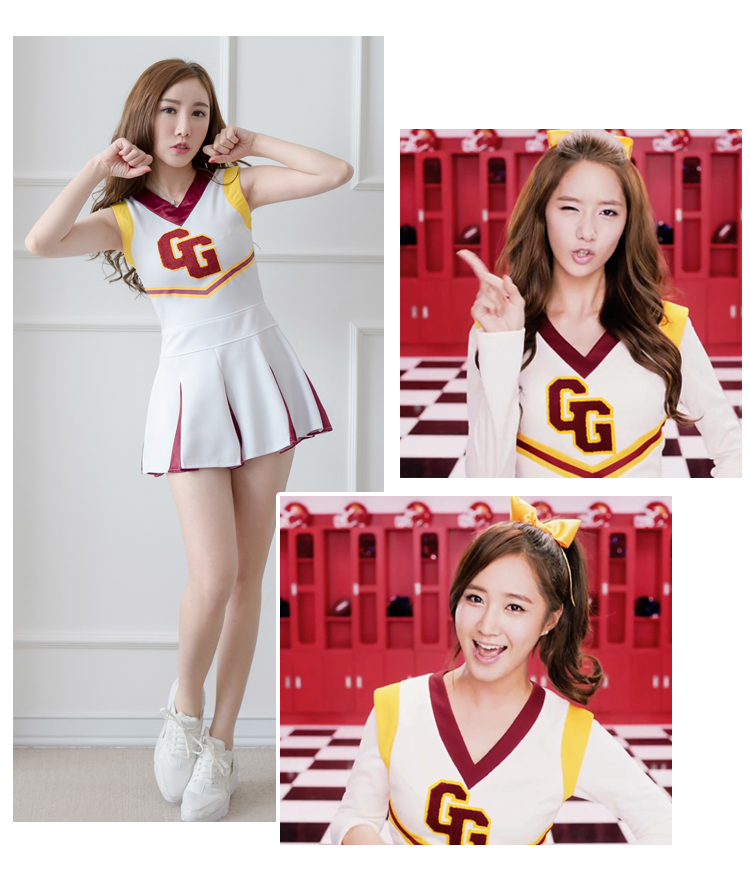 New Arrival Girls' Generation Cosplay Cheerleading Outfit Basketball Baby Festival Performance Dress Cosplay Costumes Daily Wear