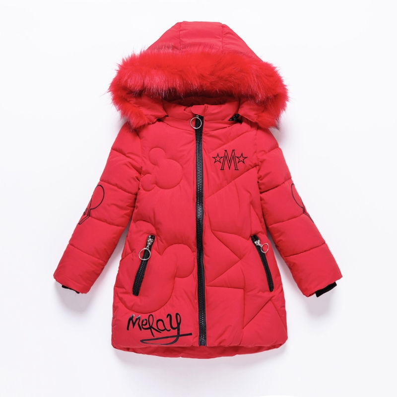 Girls Down Jackets Baby Outdoor Warm Clothing Boys Thick Coats Windproof Children's Winter Jackets Kids Cartoon Winter Outerwear