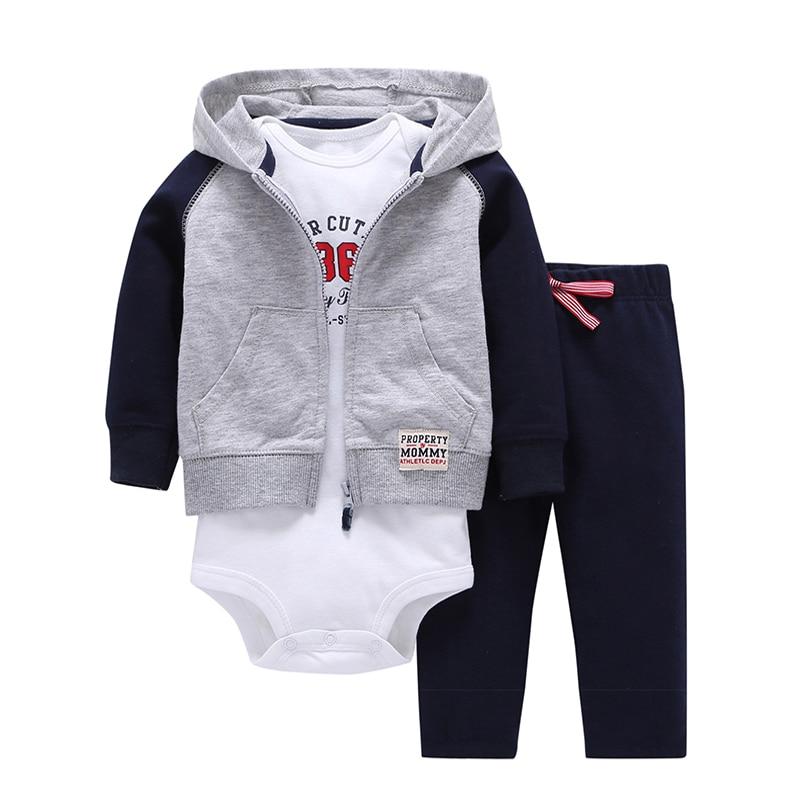 BABY BOY CLOTHES cartoon fleece jacket+bodysuit+pant newborn set girl outfit autumn winter suit INFANT CLOTHING FASHION costume