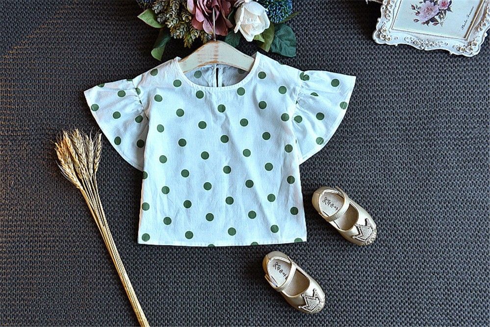 Hot Children Girls' Clothing Set 2020 NEW Baby Girl Clothes Dot Tops+Strap Dress 2pcs Cute Girls Suit Baby Kids Clothes AA4655