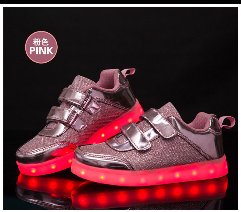 UncleJerry Led Shoes for kids Children Glowing Sneakers Luminous Tennis Shoes for boys girls USB Charging LED light Fashion shoe