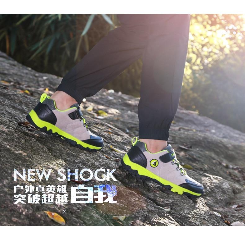 New Fashion Children Outdoor Sports Hiking Shoes, Kids Athletic Climbing Trekking Footwear, Boy Popular Comfortable Shoe Winter