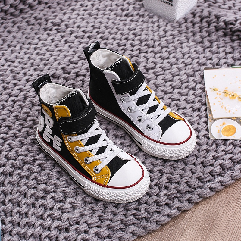 2020 spring new canvas shoes children's high-top sneakers fashion boys basketball shoes girls sports shoes