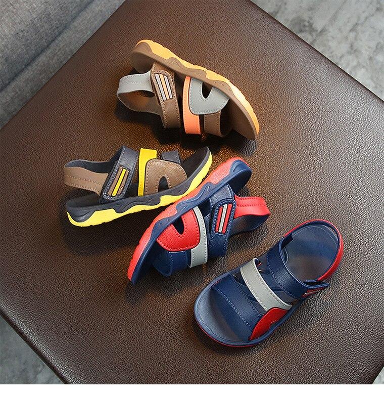 Children's sandals  2019 summer new girls children baby soft bottom boys beach shoes