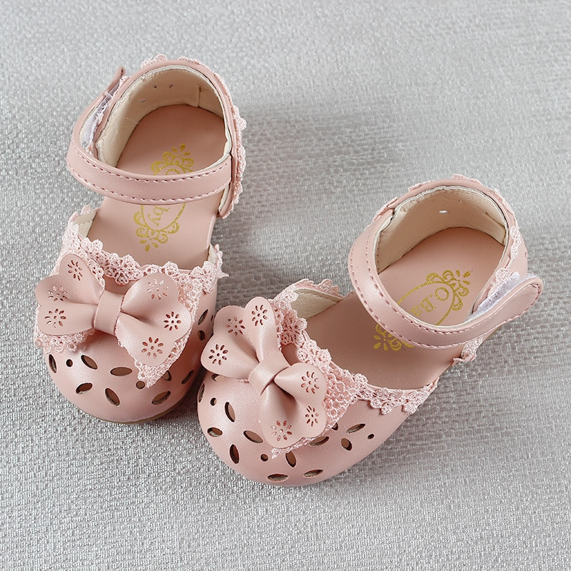 Newest Summer Kids Shoes 2020 Fashion Leathers Sweet Children Sandals For Girls Toddler Baby Breathable Hoolow Out Bow Shoes