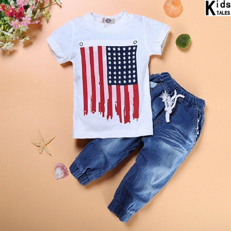 Retail 2020 hot sale summer clothing set baby boys clothes children clothes children sports suits boy's denim suit 3pcs