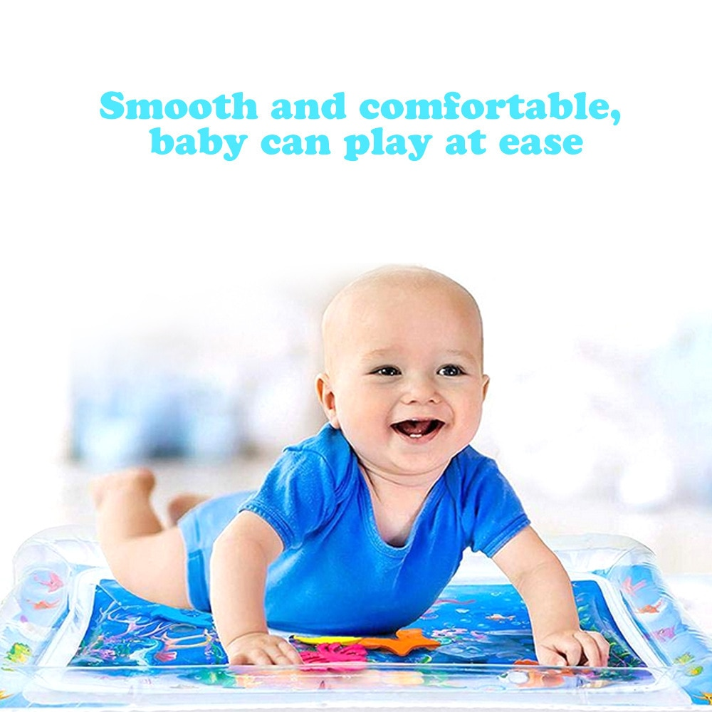 Inflatable Baby Water Mat Infant Tummy Time Playmat Toddler Fun Activity Play Center for Sensory Stimulation Motor Skills