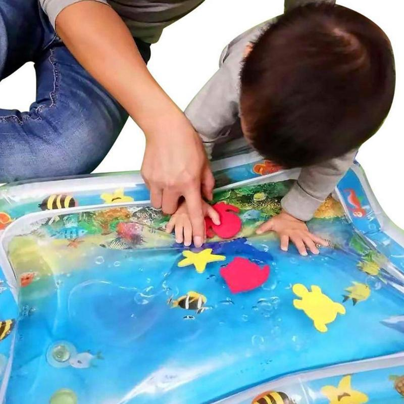Baby Water Mat Inflatable Infant Play Mat Toddler Tummy Fun Activity Pad Play Center For Sensory Stimulation Playmat