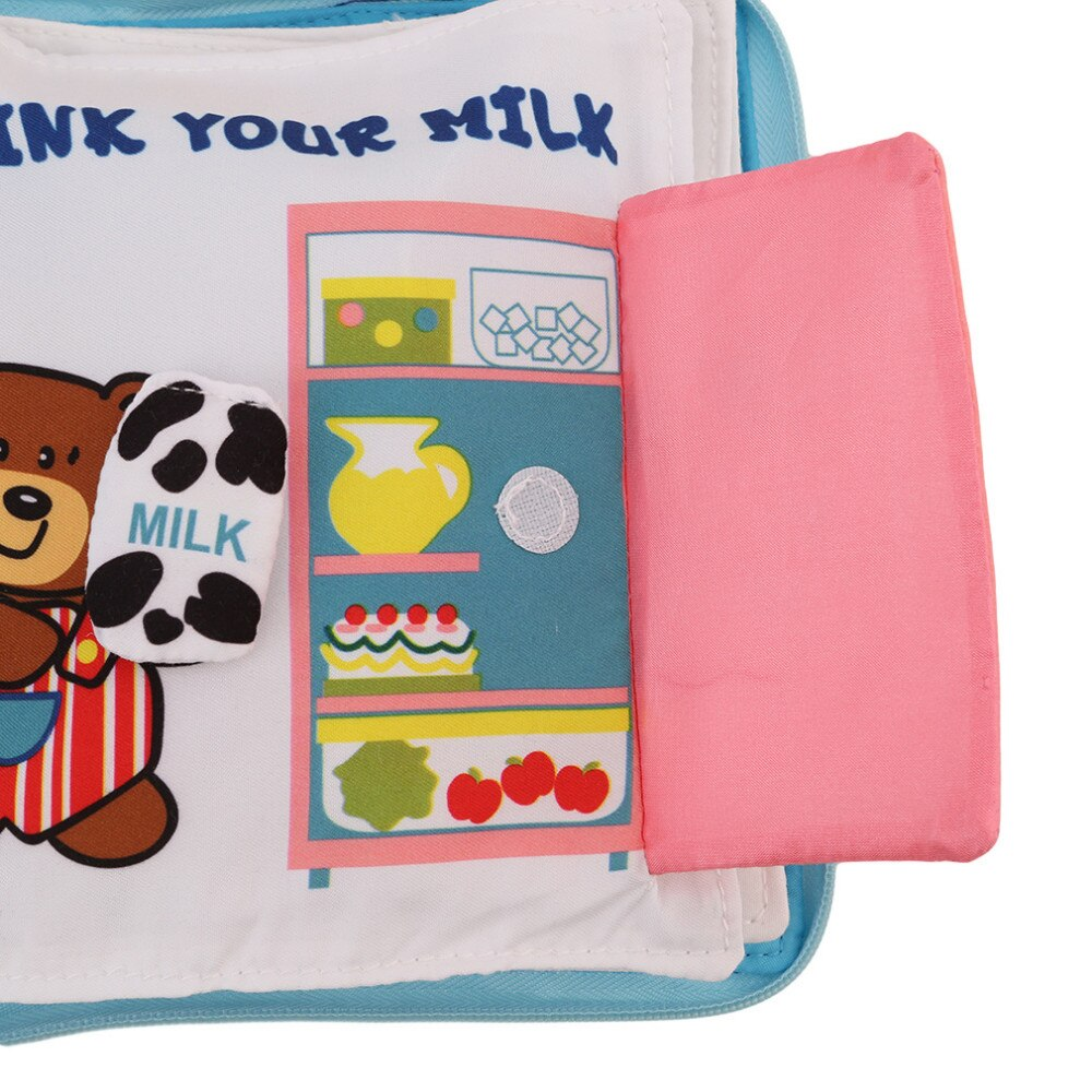 Soft Books Infant Early cognitive Development My Quiet Bookes baby goodnight educational Unfolding Cloth Book Activity Book DS19