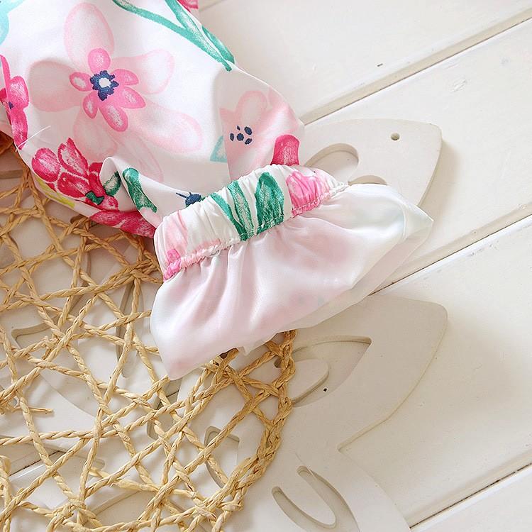 Spring 2018 New Cotton Baby Girls Coat Spend Three Flowers Lollipops Dot Jacket Cardigan Kids Children Clothing Autumn