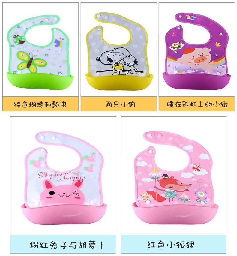2020 NEW Baby Eat Bib Waterproof Aprons Bib Infant Saliva Towels For 1-3 Years Baby Eva Material Child Feeding Bag Free Shipping
