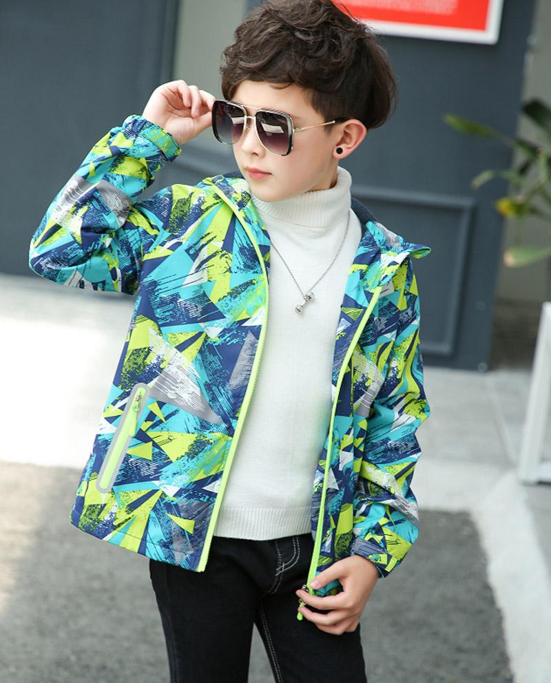 Spring Autumn Boys Jacket Waterproof Windproof Children Outerwear Warm Polar Fleece Coat Hoodie Baby Kids Clothes For 3-12Y