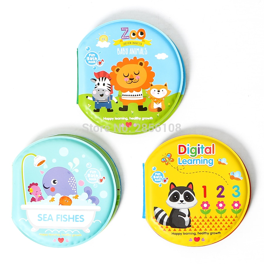 Bath Books Baby Education Toy Intelligence Development EVA Floating Cognize Book Bathroom Bathing Toys For Baby
