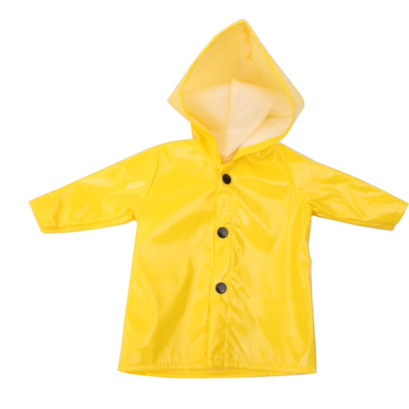 18 inch Girls doll clothes waterproof raincoat PU coat American new born dress Baby toys fit 43 cm baby dolls c539