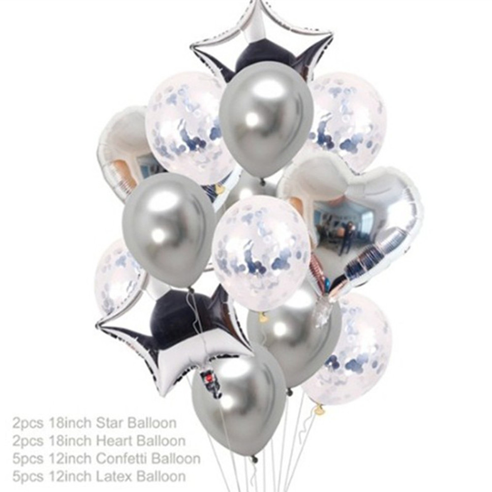 Rose Gold Foil Baloons Latex Ballon Confetti Birthday Party Decoration Kids Toys Baby Shower Balloons Air Balls globos Supplies