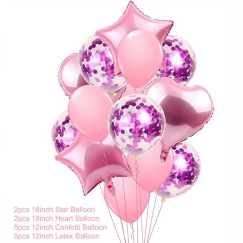 14pcs Pink