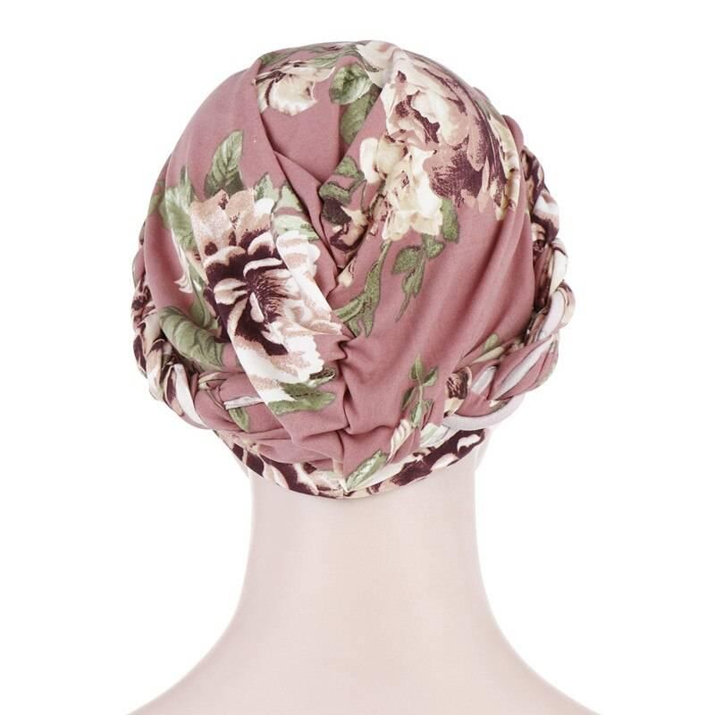 2020 bohemia print muslim turban scarf for women islamic inner hijab caps Arab wrap head scarves femme musulman turbante mujer