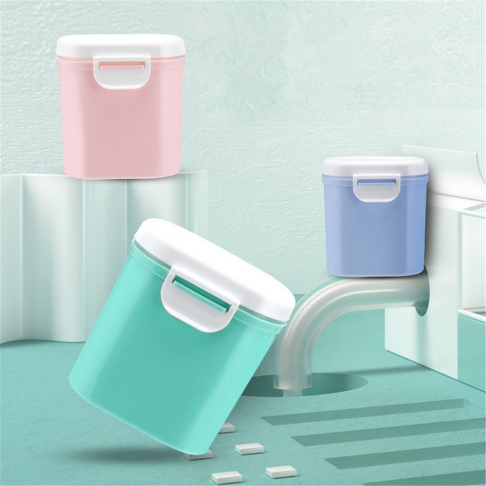 Baby Formula Milk Storage Infants Portable Milk Powder Formula Dispenser Food Container Storage Feeding Box for Kids Food PP Box