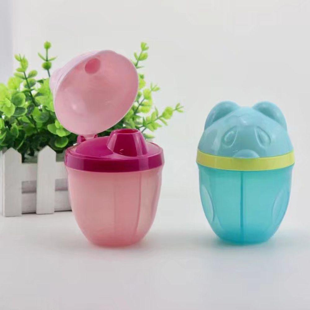 1pc Portable Baby Food Storage Cartoon Bear Milk Powder Formula Dispenser Leakproof Baby Feeding Box Infant Kids Food Container