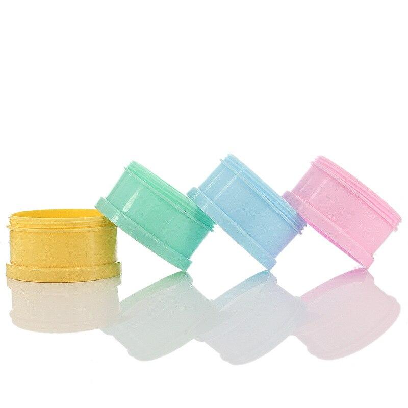 4-layer Solid Color Portable Baby Food Storage Box Cereal Cartoon Milk Powder Box Baby Milk Powder Box Multi-layer Food Storage