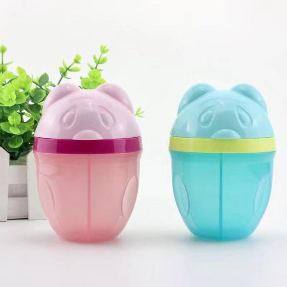 1pc Cartoon Bear Baby Food Dispenser Portable Milk Powder Formula Storage Leakproof Baby Feeding Box Infant Kids Food Container
