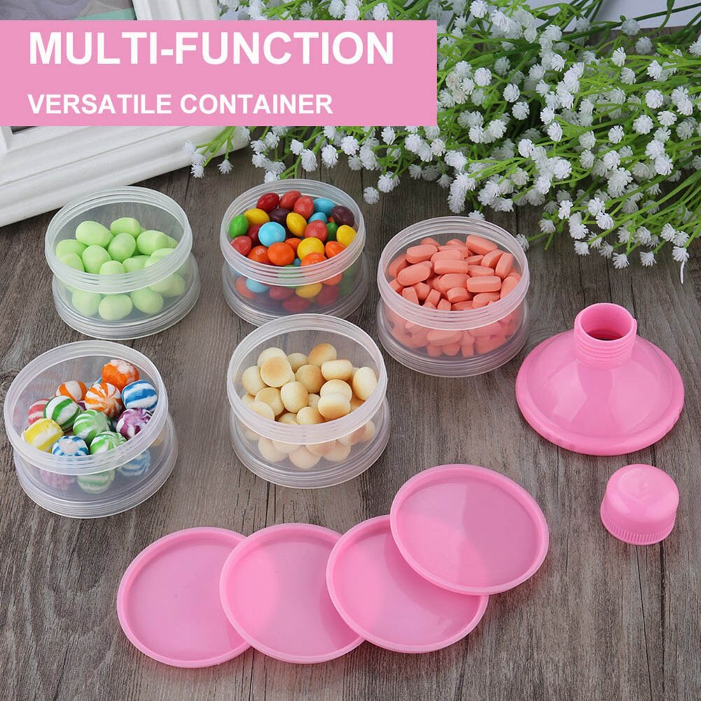 5 Layers Non-Spill Baby Milk Box  Formula Dispenser Stackable Snack Storage Container Food Box Storage Food Bottle