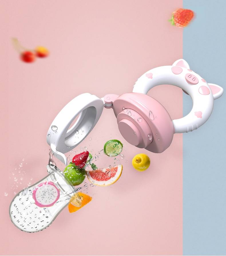 Fresh Food Baby Pacifiers Feeder Kids Fruit Feeder Nipples Feeding Safe Baby Supplies Nipple Teat Pacifier Bottles