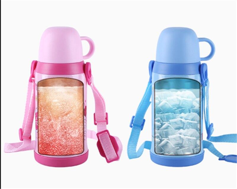400ML 500ML Disney Mickey Minnie Cartoon Water Cup Outdoor Portable Anti-leakage Kettle Mummy Feeding Baby Bottle School Bottle