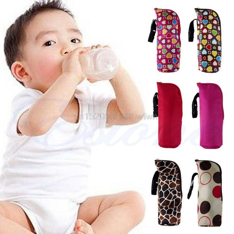 Baby Thermal Feeding Bottle Warmers Mummy Tote Bag Hang Stroller Pouch Winter Holder Hanging Cooler Bottle Bag Drop shipping