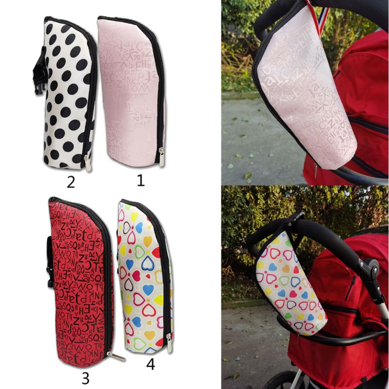 Baby Bottle Warmer Insulation Bag Travel Cup Drink Warm Milk Bottle Bag For Feed Newborn Tote Stroller Hang Bags