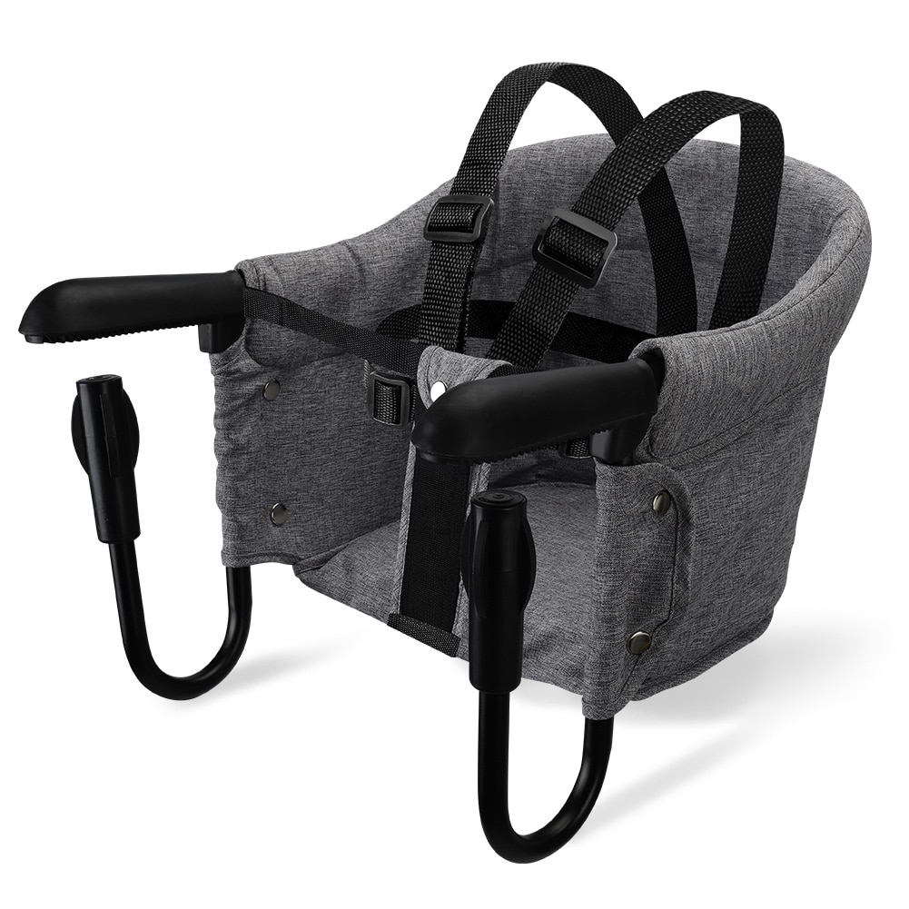 Portable Baby Highchair Foldable Feeding Chair Seat Booster Safety Belt Dinning Hook-on Chair Harness Lunch Cushion