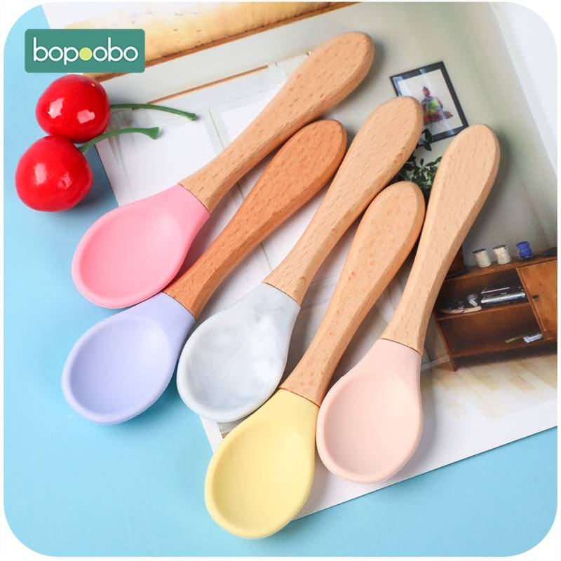 Bopoobo BPA Free Silicone Bibs Bowl Sets Baby Feeding Supplies 1PC Baby Silicone Chewing  Food  Grade Newborn Accessories  Teeth