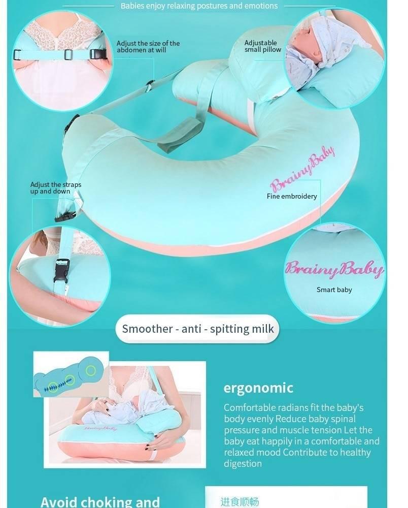 Newborn Nursing Pillows Infant U-Shaped Breastfeeding Pillow Cuddle Cotton Feeding Waist Cushion For Baby Care DropShipping