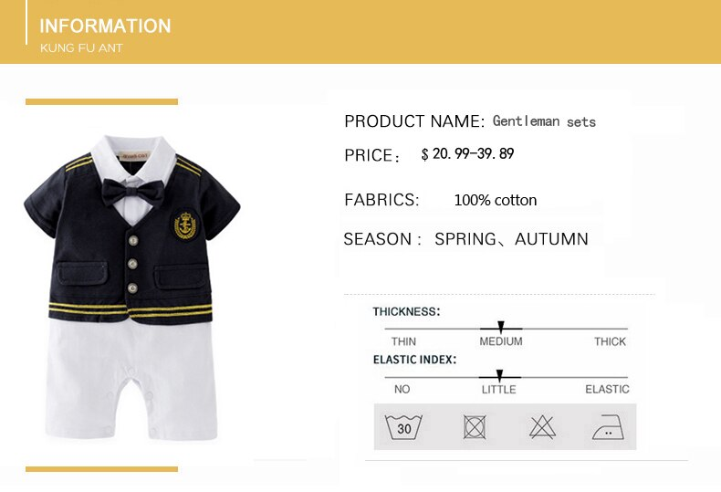 Baby romper newborn clothes sets 2020 summer clothing baby boy clothes navy style clothing infant overall baby bodysuit gift