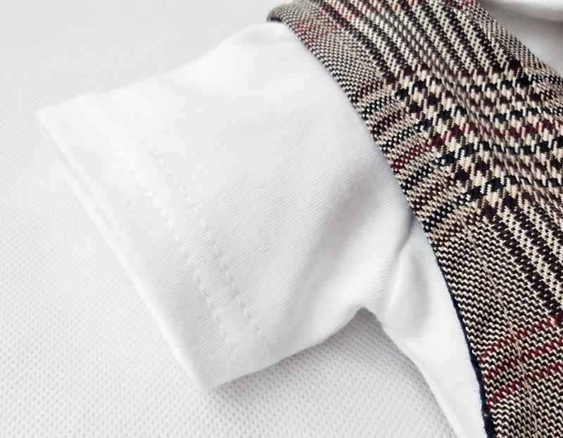 Boy dress Short sleeve gentleman suit 2020 new Lattice vest Strap short hat and cotton romper 5pcs clothing sets boys clothes
