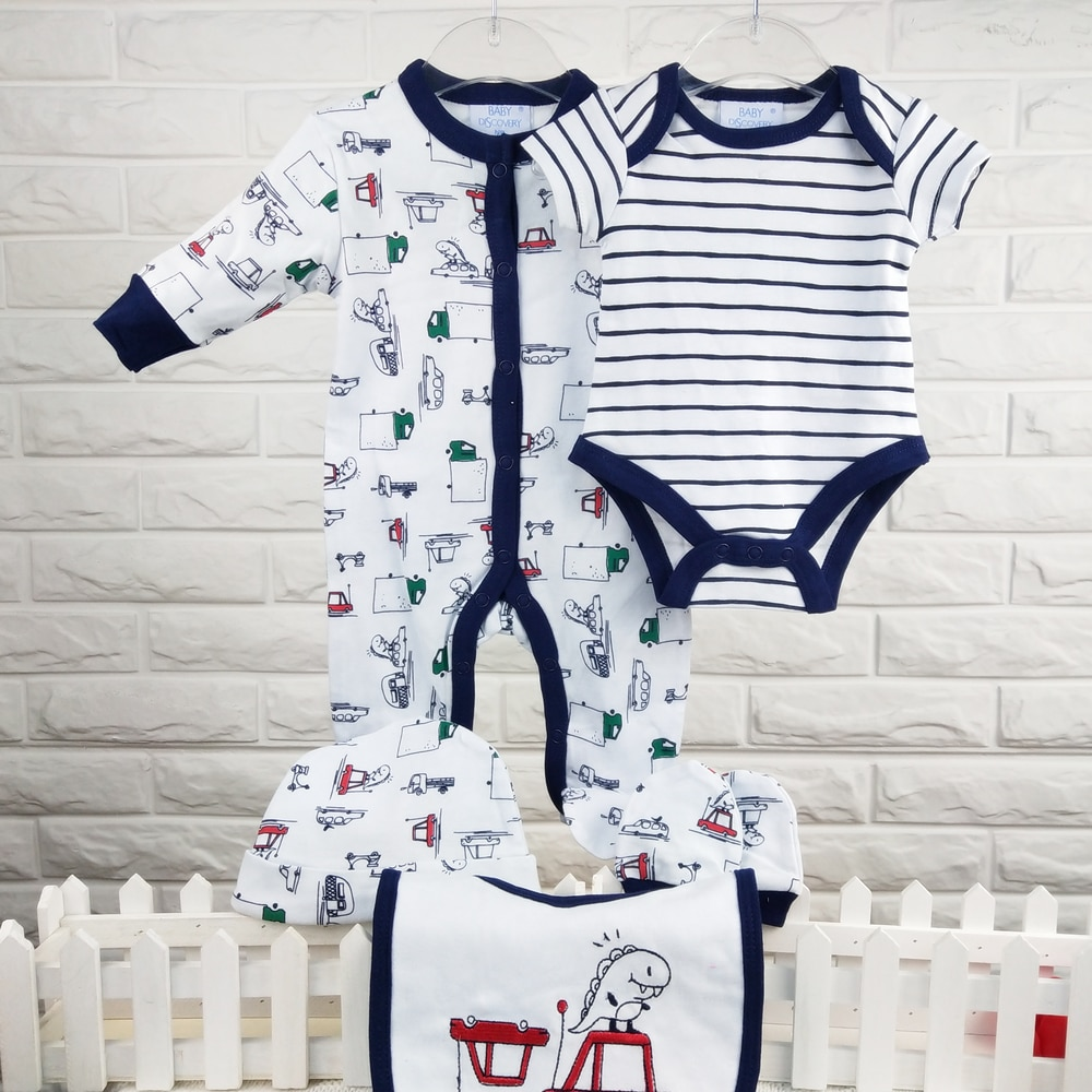 2020 spring long sleeve and short sleeve baby boys printed clothing sets  baby clothes