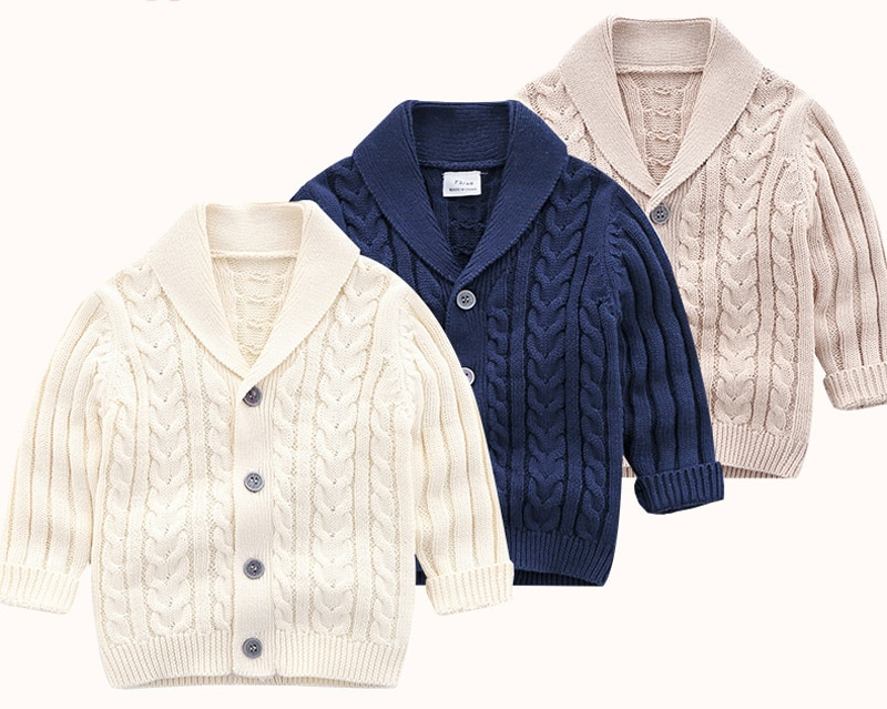IYEAL Boys Cardigan Sweater 2020 New Fashion Children Coat Casual Spring Baby School Kids Sweater Infant Clothes Outerwear 0-24M