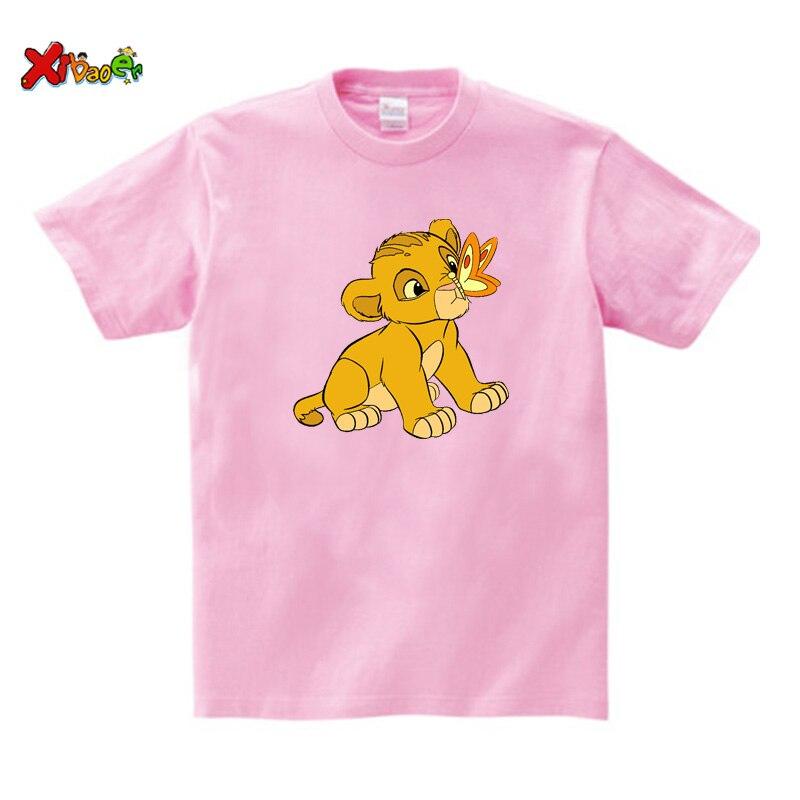 Boy Girl t shirt Anima Cartoon lion tshirt Kid Summer Top lion Casual Baby Clothes 2020  Clothes Children Clothing Cotton cool